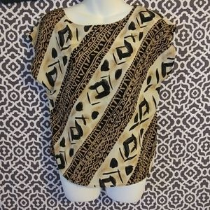 VTG 80s Maren African Print Blouse Size Small